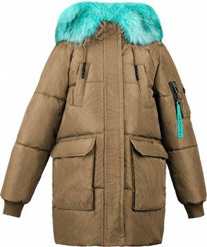 70703/1 (бежевый) Куртка-парка для девочки