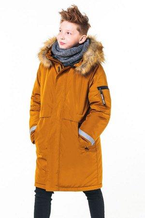 90805/2 (коричневый) Пальто для мальчика