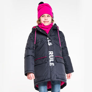 90701/1 (черный) Пальто для девочки