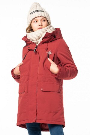 90792/1 (красный) Пальто для девочки