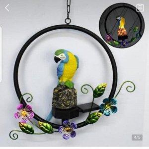 Попугай-светильник на солнечной батарее