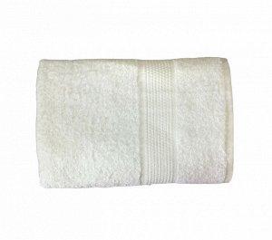 Махровое гладкокрашенное полотенце 100*150 см 400 г/м2 (Белый)