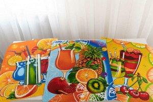 Комплект вафельных полотенец 48*60 см, 3 штуки (Коктейль)