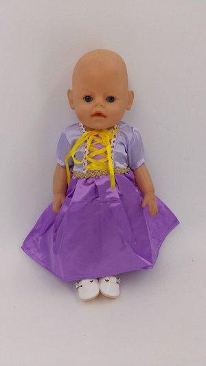 Платье 5 Одежда для беби бона и кукол 40-43 см  платье Рапунцель