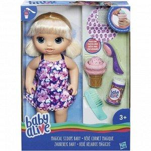 Кукла Hasbro BABY ALIVE Малышка с мороженым с аксессуарами1