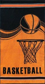 Полотенце махровое Баскетбол2