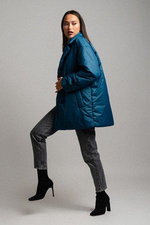 Куртка Сезон: демисезонные. Модель: удлинённая. Цвет: синий. Комплектация: куртка, пояс. Бренд: DREAMWHITE. Фактура: однотонная. Посадка: прямая. Состав подкладки: полиэстер-100%. Состав верха: полиэс