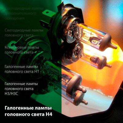 -25% 🔥 Всё для авто: аксессуары, масла, химия, инструменты — Галогенные лампы головного света H4 — Запчасти и расходники
