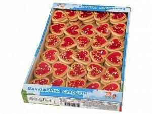 Печенье Сахарное печенье в форме сердечек с мармеладом