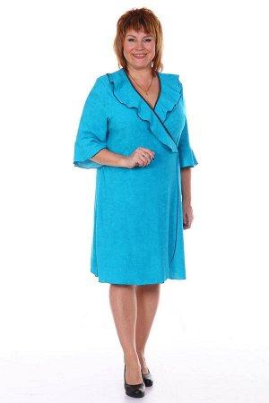 Халат женский, голубой