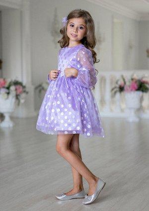 Конфети нарядное платье сиреневый