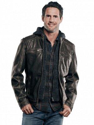 Evil Фирменная куртка известного немецкого бренда мужской одежды: ENGВERS.  Коллекция Осень/Зима 2020.   Верх - 100% натуральная овечья кожа . Утеплитель 100% полиестер. Капюшон отстегивается.  Оптова
