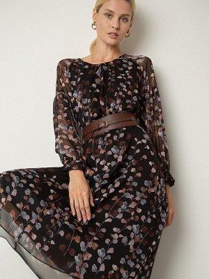 Шифоновое платье с принтом PL1075/ervin