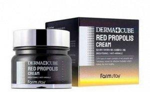 Крем для лица с экстрактом прополиса Derma Cube Red Propolis  Cream