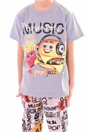 Пижама детская 7-259 Гамбургер, (серый) шт