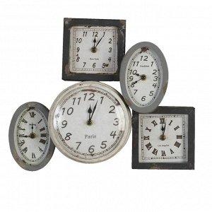 Часы настенные CF 6KL0119 панно из 5 шт металл 40*31 cm
