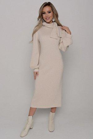 Платье Длина платья измеряется по спинке от основания шеи до низа изделия  и для всех предлагаемых размеров (42 - 52) составляет 117 см. Ткань: верхний трикотаж.  БЛЕСК НЕ ОСЫПАЕТСЯ  Плотная, теплая,