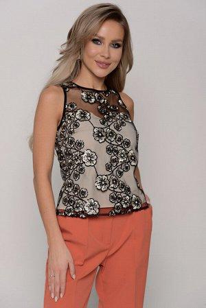 Блуза Длина артикула измеряется по спинке от основания шеи до низа изделия.  Для размера 42 длина блузы составляет 52 см; для размера 44 - 53 см; для размера 46 - 54 см; для размера 48 - 55 см; для ра