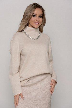 Свитер Длина свитера измеряется по спинке от основания шеи до низа изделия  и для всех предлагаемых размеров (42 - 52) составляет 67см. Ткань: верхний трикотаж.  БЛЕСК НЕ ОСЫПАЕТСЯ  Плотная, теплая, м