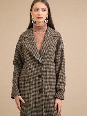 Пальто в гусиную лапку R048/irada
