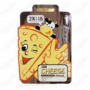 Тканевая маска для лица успокаивающая с ферментированным сыром
