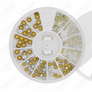 Набор металлического декора для ногтей №4