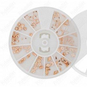 Набор металлического декора для ногтей №17