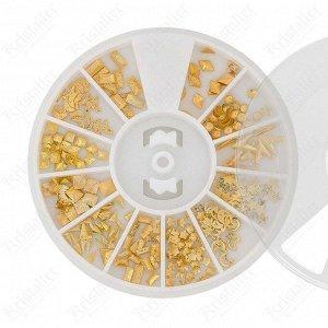 Набор металлического декора для ногтей №16