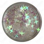 Камифубуки звёздочки для дизайна ногтей в баночке