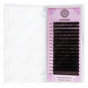 Чёрные ресницы микс (16 линий) 0,085 C 7-14 мм