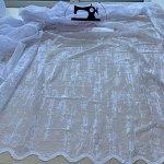 Тюль готовый белый эффект штукатурки шириной 3 метра