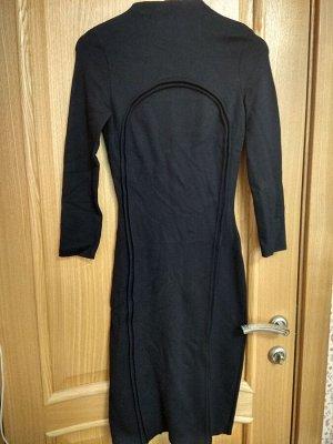Платье т. синее, плотный трикотаж