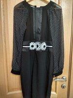 Платье рукав горох шифон