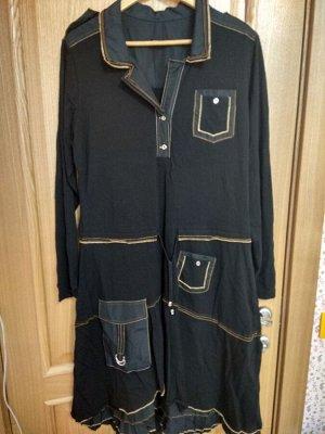 Платье трикотаж черный