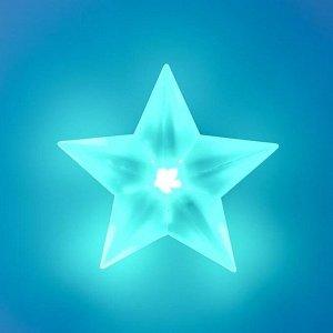 "Ночник ""Звезда"" LED от батареек белый 8.5х9х3.5 см"