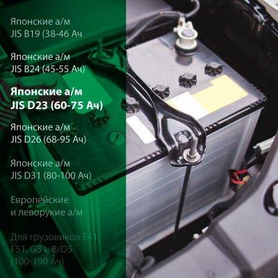 Всё для авто 🚗 Чехлы и накидки на сиденья! — Аккумуляторы на японские а/м типоразмер JIS D23 (60-75 Ач) — Запчасти и расходники