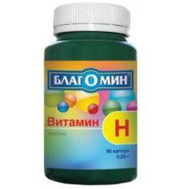 Витамин Н (Биотин) 150Мкг Серии Благомин Капс. 0,25 Г №90 (Бад)