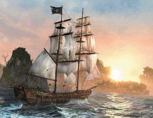 Алмазная живопись - мозаика Пиратский корабль