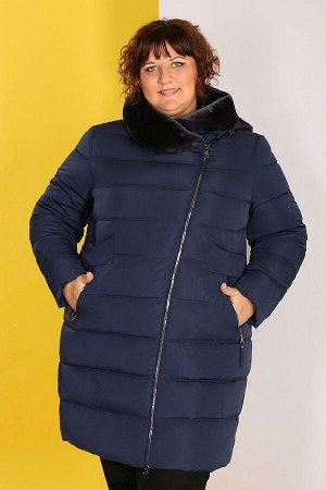 Пальто женские темно-синее зимнеетемно-синий
