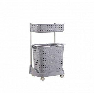 Стеллаж для белья и аксессуаров Х-8286 двухуровневый серый