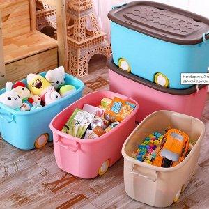 Корзина малая, для хранения детских игрушек Х-8145_М абрикос