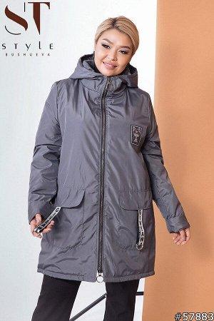 Куртка Артикул: 57883; Материал: Плащёвка «Канада» плотная,утеплитель синтепон 80; Цвет: Серый; Размер на фото: XL; Параметры модели: 100-72-102; Рост модели: 163 Отличная куртка на демисезонье, котор