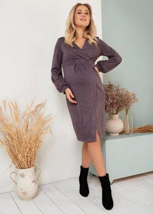 """Платье """"Элла"""" для беременных и кормящих; сливовый"""