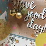 Новогоднее подвесное украшение Золотой микс: набор из 3 шт., 2,5x2,5x2
