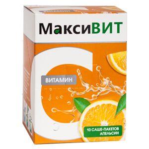 Витамин С растворимый «МаксиВИТ», апельсин 10 саше по 16 гр.