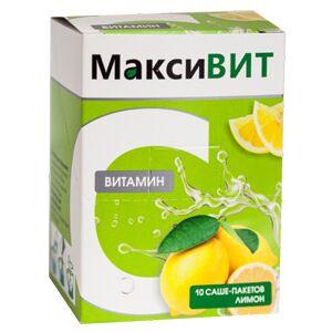 Витамин С растворимый МаксиВИТ, лимон 10 саше по 16 гр.