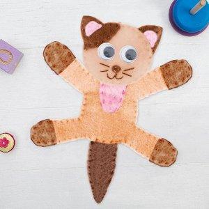 """Игрушка из фетра с магнитами, набор для создания """"Котик"""""""