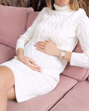"""Платье """"Лабель"""" для беременных и кормящих; молочный"""