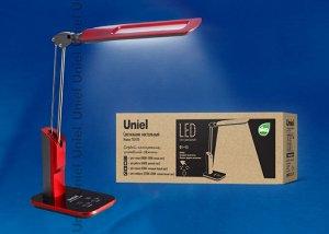 Лампа настольная/LED/900Lm/6 режимов в диапазоне 2700-6400K/С диммером/Цвет-красный, TLD-515 Red/9W
