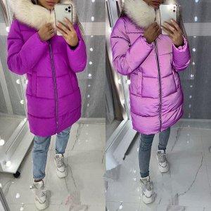 Куртка Очень яркие курточки из светоотражающего материала. На капюшоне искусственный мех. Для температур до -25
